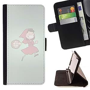BullDog Case - FOR/LG G3 / - / Funny Red Hood Girl /- Monedero de cuero de la PU Llevar cubierta de la caja con el ID Credit Card Slots Flip funda de cuer