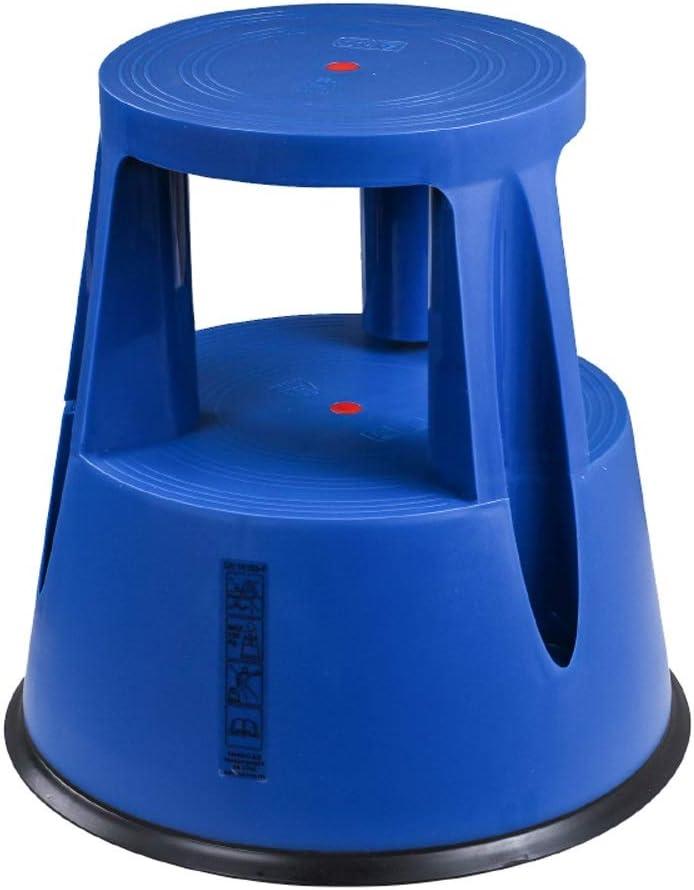 Taburete Multifuncional De 2 Escalones con Rueda Deslizante, Mini Escalera Redonda para Adultos Y Niños, Taburetes De Escalones De Cocina, Taburete De Jardín ++ (Color : Blue): Amazon.es: Electrónica