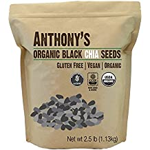 Anthony's Organic Chia Seeds 2.5lbs, Batch Tested Gluten-Free, Non-GMO