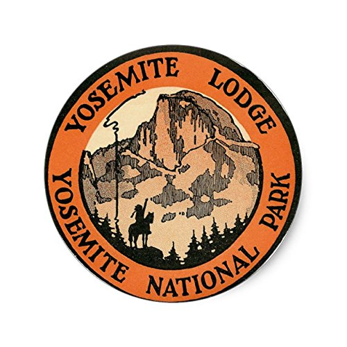 Retro Vintage Kitsch Hotel Yosemite Lodge Tag - Sticker Graphic - Travel Vintage Luggage Sticker for Bumpers Suitcase Luggage Folders Decor Sticker Decal Souvenir Sticker - Customer Lodge Travel Services