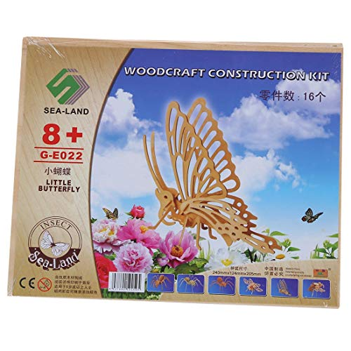 | Math Toys | 1 lot Wholesale!3D Woodcraft DIY Butterfly Puzzle Toy Gift for Children by GonPi