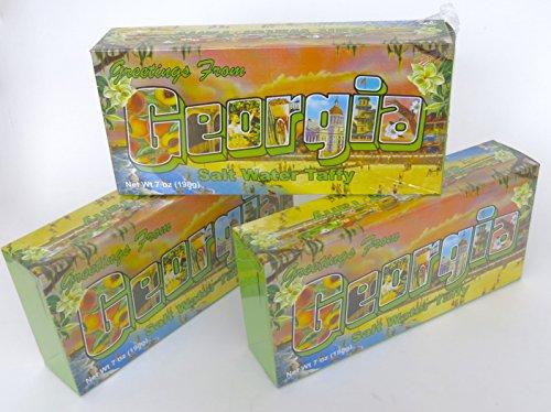 (Georgia, souvenir salt water taffy gift. 3 box set.)