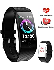 WENVVIS Fitness Tracker Watch, Smart Watch with Heart Rate Monitor Blood Pressure Monitor, IP67 Waterproof Pedometer Watch with Sleep Monitor