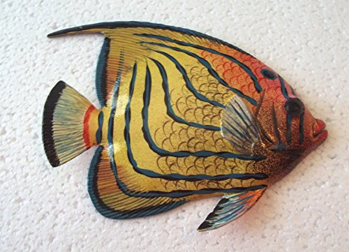 Tropical Fish Wall Plaque (Tropical Fish Wall Plaque Tiki Bar Beach Nautical Size 5.75
