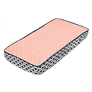 Bacati - Emma Aztec Solid Coral/Navy Quilted Changing Pad Cover
