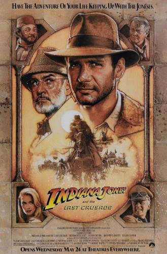 diana Jones and the Last Crusade - Harrison Ford Sean Connery Movie Poster