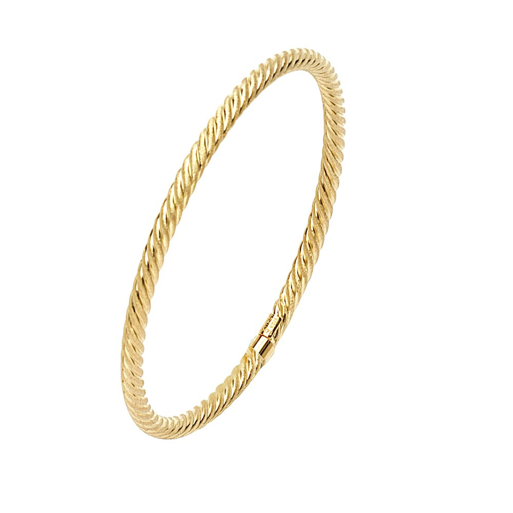 Bangle Bracelet 14K Gold Bangle 7.75 Wrist Size
