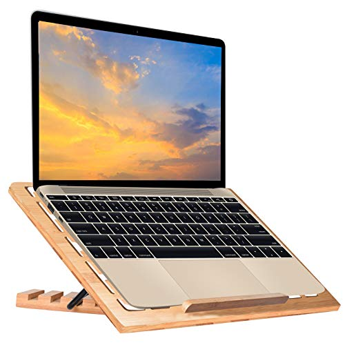 wishacc Bamboo Laptop Stand