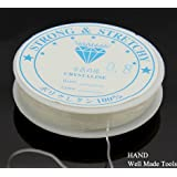 Premium Strength Roll of Bead Craft Crystal Clear, Stretchy String/Thread 1.0mm Thickness, Buy 1 Get 1 Free! by Well Made Tools