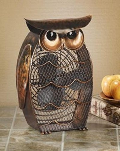 Deco Breeze DBF0365 Decorative Figurine 20-Watt Metal Fan, Owl