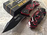 TAC-FORCE Speedster Spring Assisted Dragon Strike Rescue Knife RED For Sale