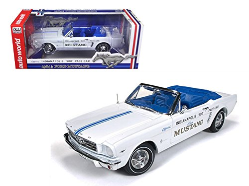 StarSun Depot 1964 1/2 Ford Mustang Convertible 289 V8 Indy 500 Pace Car Limited to 1500pc 1/18 Model Car by Autoworld Convertible Indy Pace Car