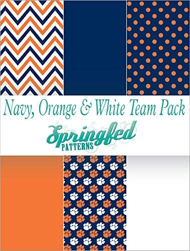 NAVY BLUE, ORANGE & WHITE TEAM THEME PACK #1 Pack