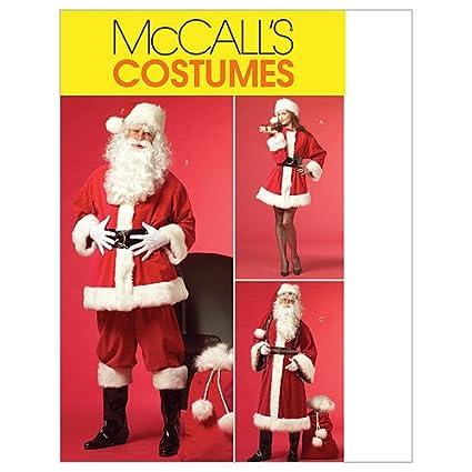 XLG-XXL-XXXL Size XN McCalls Patterns M5550 Misses//Mens Santa Costumes and Bag