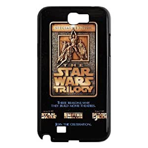 Fashion Style for Samsung Galaxy Note 2 Cell Phone Case Black star wars trilogy poster YIP4872021
