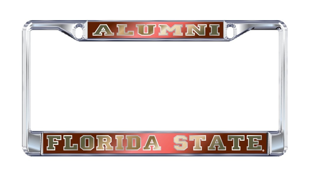 FSU Florida State ALUMNI Chrome License Plate Frame Craftique .