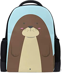 ALAZA Otter Casual Backpack Waterproof Travel Daypack School Bag