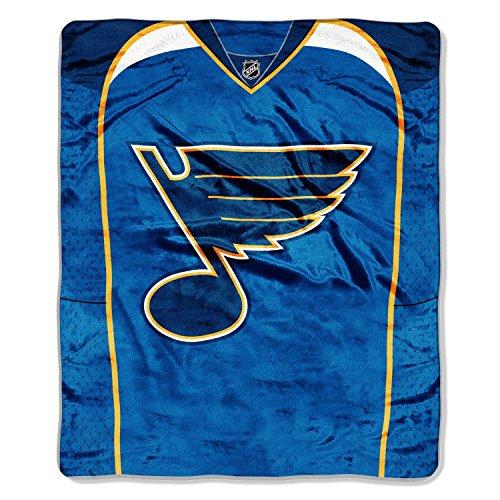 The Northwest Company NHL St. Louis Blues Jersey Royal Plush Raschel Throw Blanket, 50x60-Inch