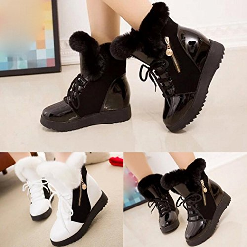 Women Fashion Ladies Soft Round Toe Flat Ankle Martin Shoes- Female Suede Leather Fleece Lace-Up Boots-MOONHOUSE