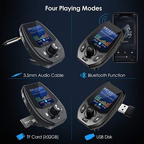 bluetooth fm transmitter for car coocheer bluetooth car. Black Bedroom Furniture Sets. Home Design Ideas