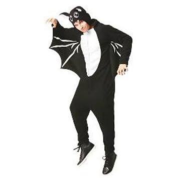Fledermaus Bat Fleece Jumpsuit Herren Fasching Halloween Karneval