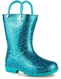 Children's Glitter Rain Boots for Little Kids & Toddlers, Boys & Girls