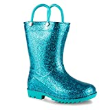 Chillipop Children's Glitter Rain Boots for Little Kids & Toddlers, Boys & Girls