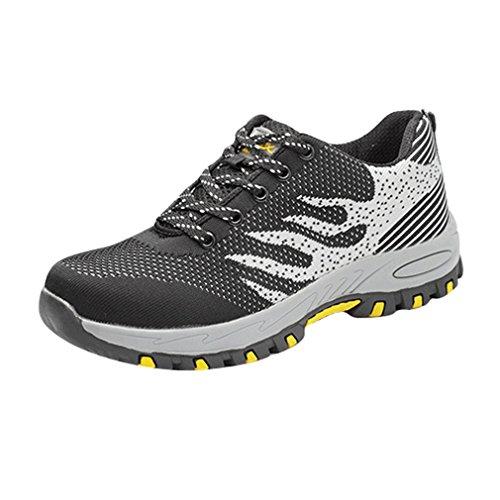 Unisex para Adulto de Ligeras Trabajo Seguridad Calzado Negro de Hombre Zapatillas Comodas para qfwXEf