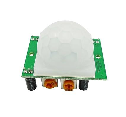 Aihasd HC-SR501 Ajustar IR Pyroelectric infrarrojo PIR Módulo Detector de movimiento sensor