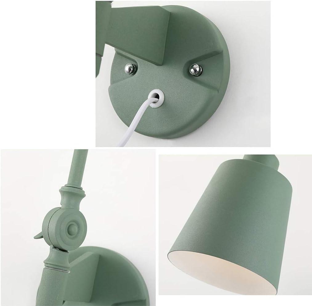 WALL LAMP Wandleuchte - Nordic Simple Rocker Arm Long Arm Wandleuchte, Schmiedeeisen E27, Wohnzimmer Dekor Schlafzimmer Lesestudie Nachtlicht Büro (Color : A) B