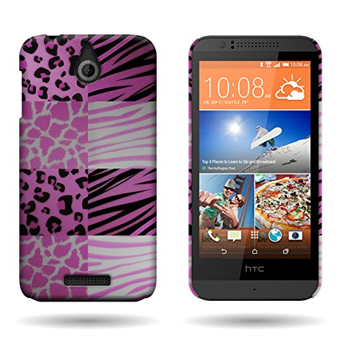 HTC Desire 510 Case, CoverOn Ultra Slim Matte Hard Case for HTC Desire 510 (2014) - Pink Exotic Skins
