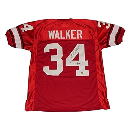 Image Unavailable. Image not available for. Color  Herschel Walker  Autographed Georgia Bulldogs (Red  34) Custom Stitched Jersey ... 73513ed6e
