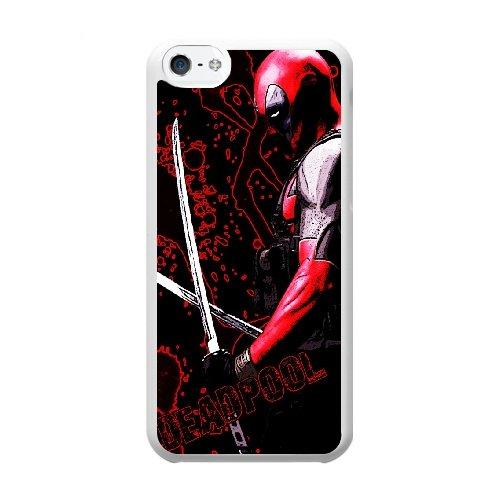Coque,Coque iphone 5C Case Coque, Deadpool Cover For Coque iphone 5C Cell Phone Case Cover blanc