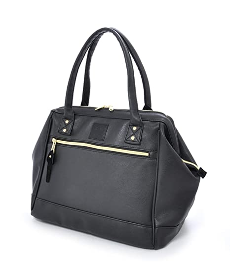 a7c102c304 Anello PU Leather Boston Shoulder Bag Handbag (Black)