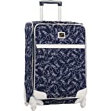 Diane Von Furstenberg Luggage Color On The Go 24 Inch Expandable Spinner, Navy/White, One Size, Bags Central