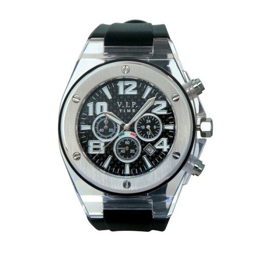 V.I.P. Time V.I.P. Time BIG-C - Reloj de caballero de cuarzo con correa de silicona negra: Amazon.es: Relojes