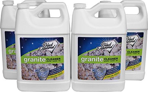 Black Diamond Stoneworks Granite Counter Cleaner: Natural Stone, Marble, Travertine, Tile, Quartz, Concrete Countertops & Antiques 4 Gallons