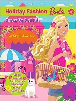 Book Barbie Holiday Fashion Dress Up Doll Kit