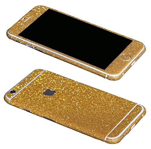 Just Mode(TM)Glittering Style Full Body Bling Glitter Film Sticker Case Cover Protector for Apple iPhone 6 Plus 5.5-Golden ()
