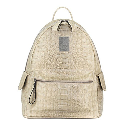 VF P915 Croco Backpack Beige by Violett-Backpacks