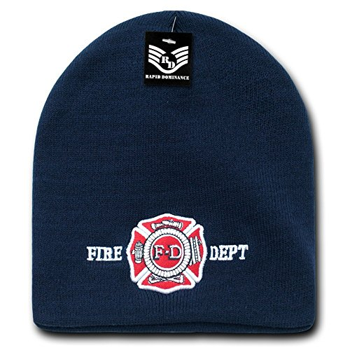 Fire Department Work Knit Beanie (Embroidery Dept Fire)