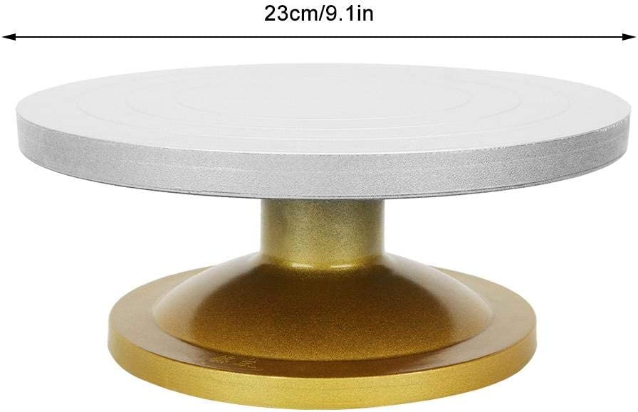 Pottery Turntable Metal Professional 50kg Good Bearing Capacity Potter Wheel Thickened Non-Stick Mud Pottery Wheel Rotating Table Turntable Clay Modeling Sculpture Turnplate for DIY Craft 23cm