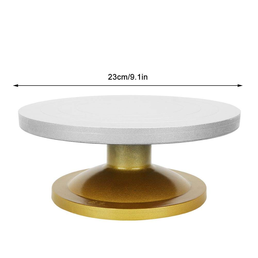 23cm Focket Pottery Turntable,Metal Thickened Non-stick Mud Pottery Wheel Rotating Table Turntable Clay Modeling Sculpture Turnplate,Good Bearing Capacity,Good Accessories for Ceramic Machine