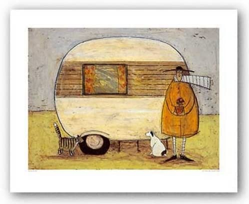 DOG ART PRINT Hugs on the Way Home Sam Toft