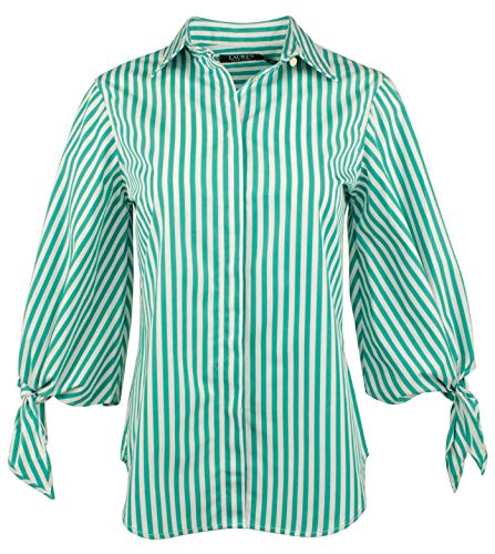 Lauren Ralph Lauren Women's Petite Striped Shirt-G-PS