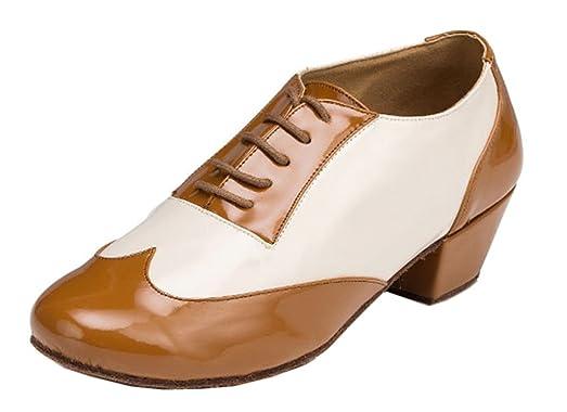 Men's Fashion Lace-up PU Leather Salsa Tango Ballroom Latin Modern Dance Shoes