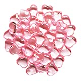 AiFanS 1LB(Approx 225Pcs) PINK Acrylic Heart For Table Scatter Decoration or Vase Filler