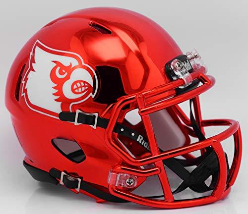 Riddell NCAA Louisville Cardinals Unisex Louisville Cardinals Helmet Replica Mini Speed Style Chrome Alternatehelmet Replica Mini Speed Style Chrome Alternate, Team Colors, One Size