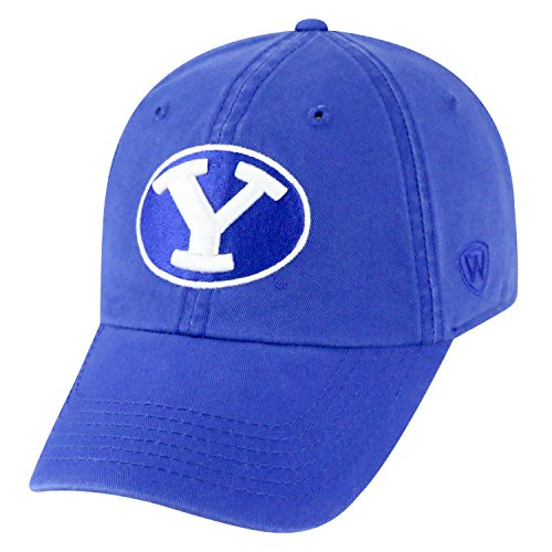 Top of the World NCAA-Cotton Crew-City-Adjustable Strapback-Hat Cap-BYU Cougars-Blue