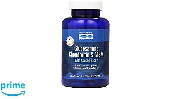 Amazon.com: Trace Minerals Glucosamine/Chondroitin/MSM Tablets, 120-Count: Health & Personal Care